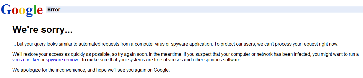 google-ban