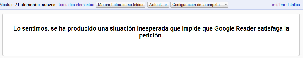 error google reader